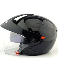 motorcycle helmet jet open face helmet Captain star cascos para moto vintage pilot cafe racer double lens helm summer