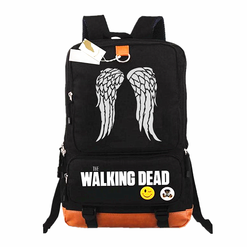 THE WALKING DEAD Backpack Mochilas Teenagers Men Womens Student School Bags travel Casual Backpacks Laptop BagsTHE WALKING DEAD Backpack Mochilas Teenagers Men Womens Student School Bags travel Casual Backpacks Laptop Bags