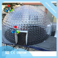 Dia 10M PVC Large Inflatable Transparent Bubble Dome Tent for Party Event with LED light On Sales