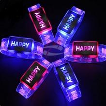 23 * 3 सेमी उत्सव खिलौना एलईडी चमकती कंगन कलाई बैंड चमक कंगन अच्छी तरह क्रिसमस हेलोवीन पार्टी उपहार YH220