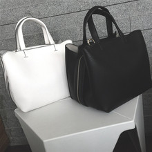 Women Boston Bag Totes For Female 2017 Summer New Wide Shoulder Strap Bag High Quality PU Leather Casual Crossbody Bolsa On Sale
