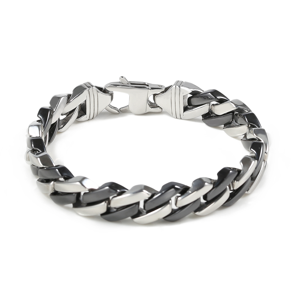 TL Ceramic An Charms Bracelet Hollow Circle / Clover Bracelets & Bangles for Women/Men Gold/Silver Stainless Steel Jewelry