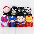 Супергерои Мстители Бэтмен Железный Человек Капитан Америка Отбеливатель Черная Вдова Супермен Супер Человек Плюшевые Игрушки Куклы С Sucker 18 см