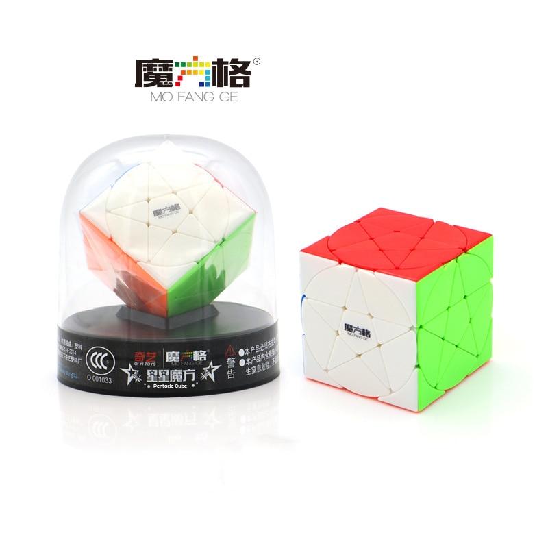 QiYi Pentacle Cube magique 60mm forme étrange Cubo magico jouet éducatif de récupération lisse coloré autocollant Puzzle cube néo Cube
