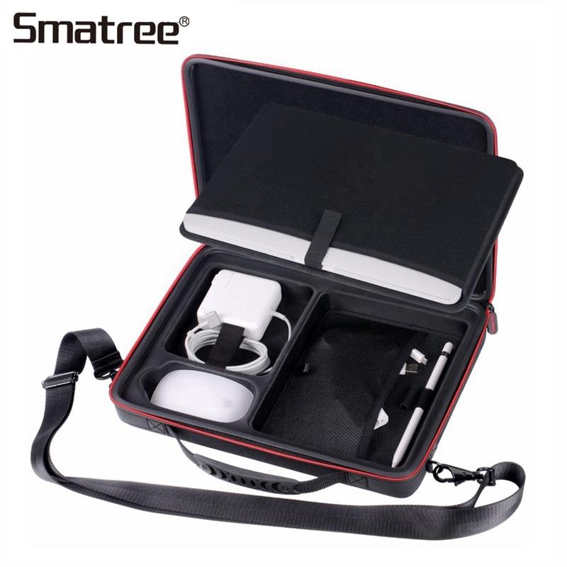 Sacs à main Smatree pour Macbook Pro 13 pouces, étui de transport pour Apple Macbook Air 13.3 pouces, sac rigide pour 12 pouces avec bandoulière