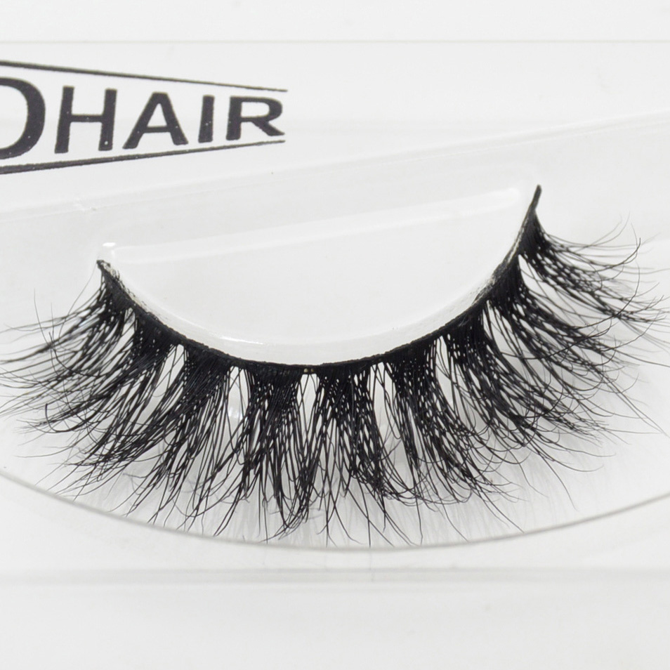 Visofree 1 Pair D008 3D Mink Eyelash Wholesale 100% Real Mink Fur Handmade Crossing Lashes Individual Strip Thick False Eyelash