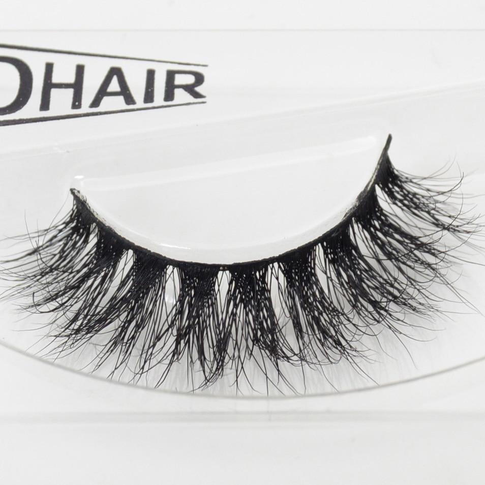 a7e6a535814 Visofree 1 pair D008 3D Mink Eyelash Wholesale 100% Real Mink Fur Handmade  Crossing Lashes Individual Strip Thick False Eyelash