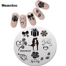 Imagem da arte do prego design criativo namorados namorada carimbar modelos da arte do prego manicure estênceis unha polonês ferramentas mezerdoo 25