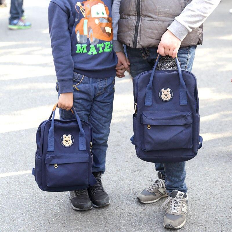 Sac d'école pour fille garçon dames adolescents décontracté sacs de voyage cartable sac à dos toile sac à dos mère et fils fille correspondant