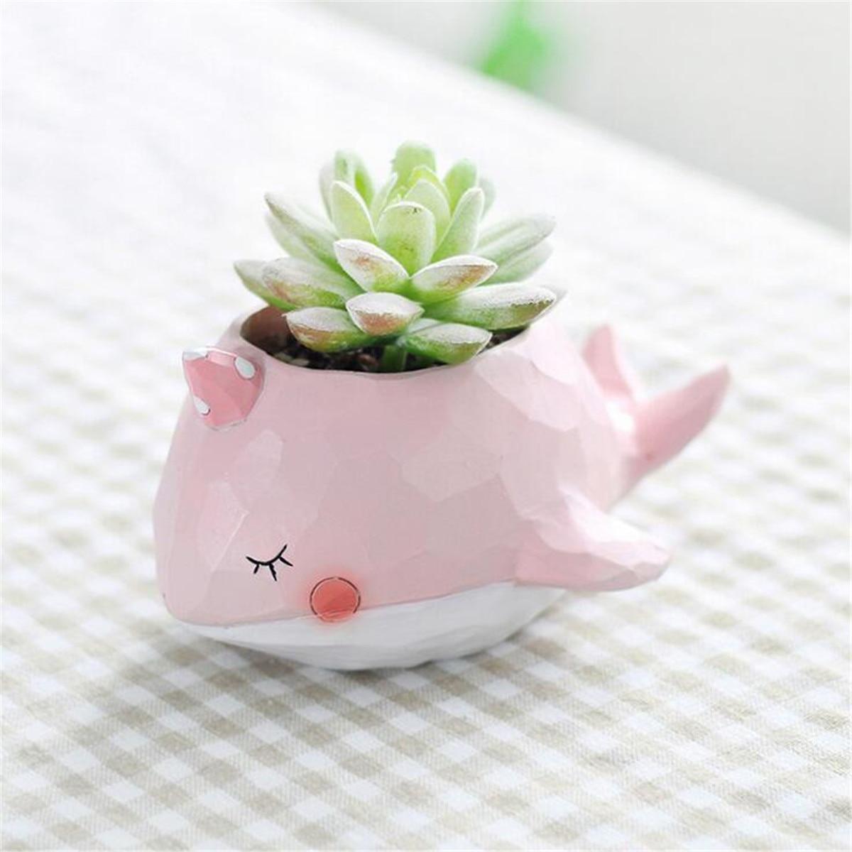 Animal Shape Resin Flower Pots Planter Small Succulent Plants Bonsai
