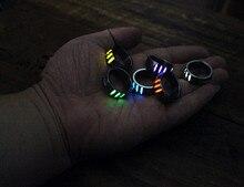 18mm Titanium Alloy Finger Ring with 3pcs Tritium Tubes for Men EDC Luminous Rings Multi Tools Women Jewelry Christmas