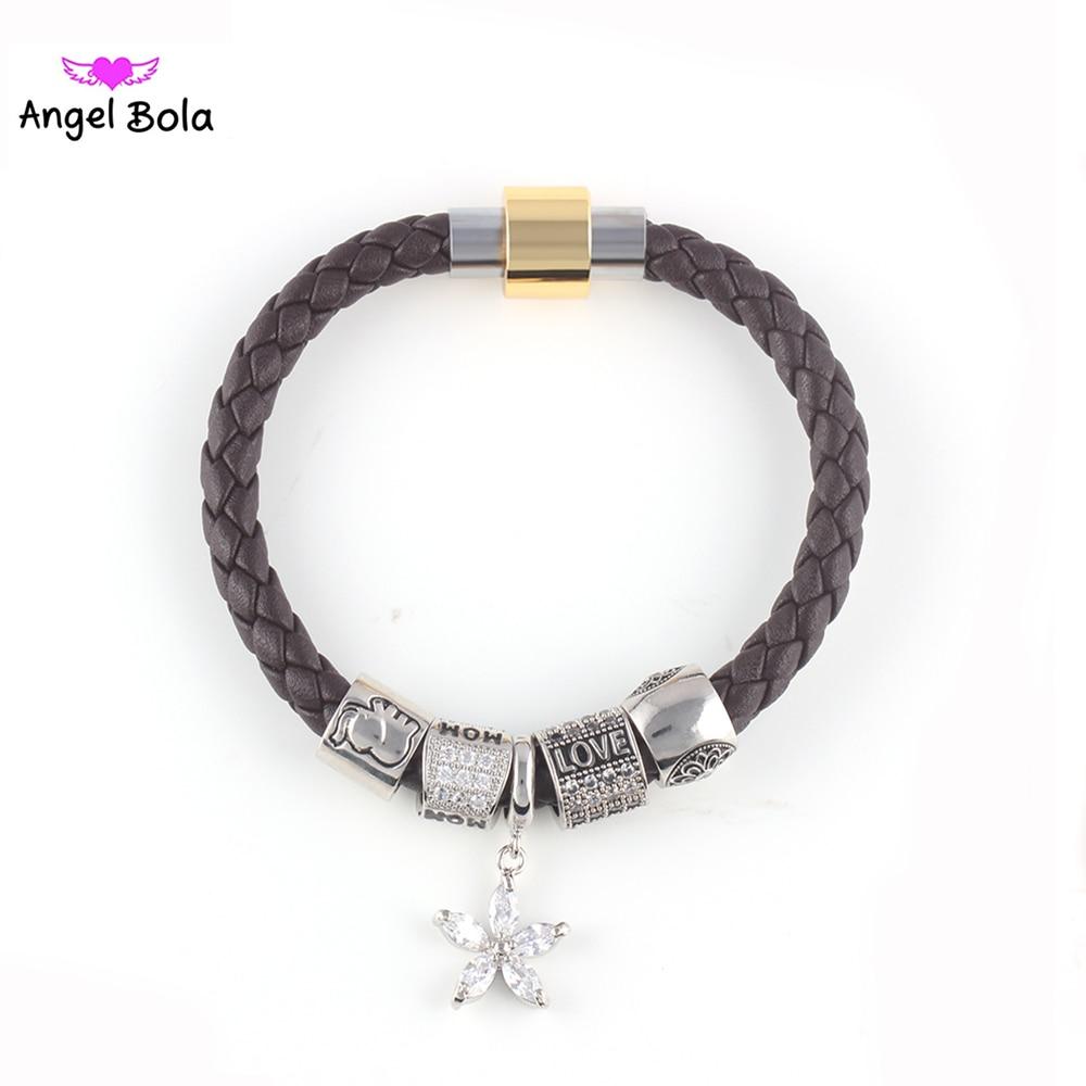 Pryme Wholesale 10pcs Endless Star Leather Charm Bracelets Interchangeable  Diy Jewelry Women Mom Fashion Beaded Bracelets