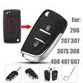 Изменение Ключевых Оболочка Для Peugeot 206 207 307 307 S 308 408 407 607 2 Кнопки Автомобиль Флип Складные Удаленный Случае Ключ С Пустой Ключ