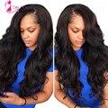 """7A Peruvian Virgin Hair Body Wave 4 pcs lot 8""""-30"""" Natural Black Puruvian Hair Bundles Deals Quality Human Hair Weave  For Sale"""