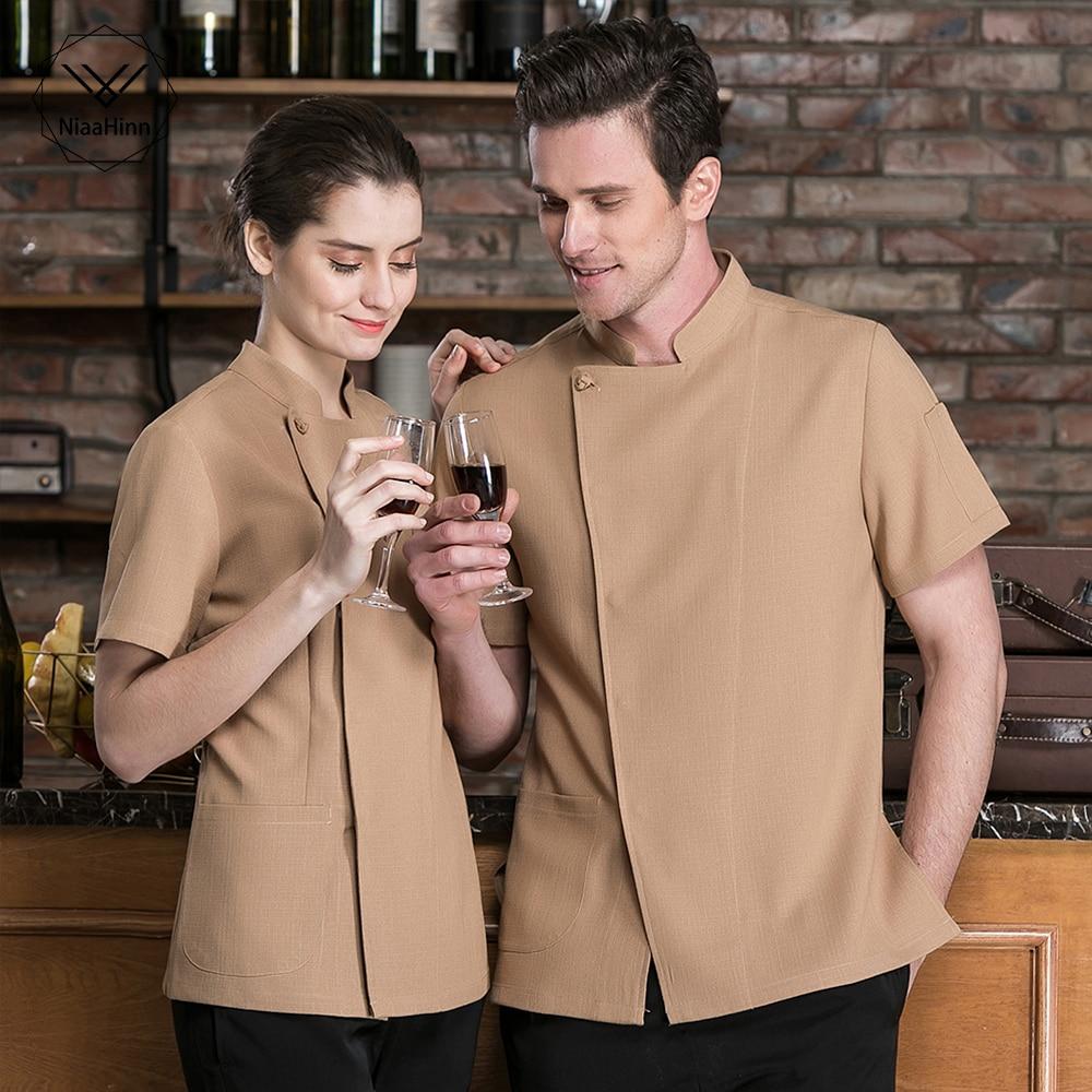 New Wholesale Chef Uniform Unisex Restaurant Kitchen Breathable Shirt Chef Jacket&cap&apron Work Clothes For Men Chef Coat