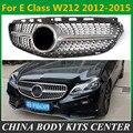Алмазный гриль подходит для M-benz переднего бампера решетки гонки решетка E-class w212 E200 E280 E300 E240 2012-2015без большой звезды