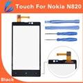 LL ТРЕЙДЕР 100% Гарантия Качества Черный Замена Сенсорного Экрана Digitizer Для Nokia Lumia N820 820 Переднее Стекло С Ремонтных Инструментов