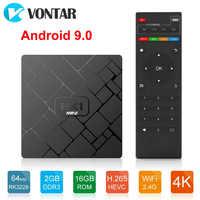 Android 9.0 Smart TV Box RK3229 Quad Core 2GB 16GB HK1 mini 2.4GHz Wifi H.265 4K HD Google lecteur magasin décodeur lecteur multimédia
