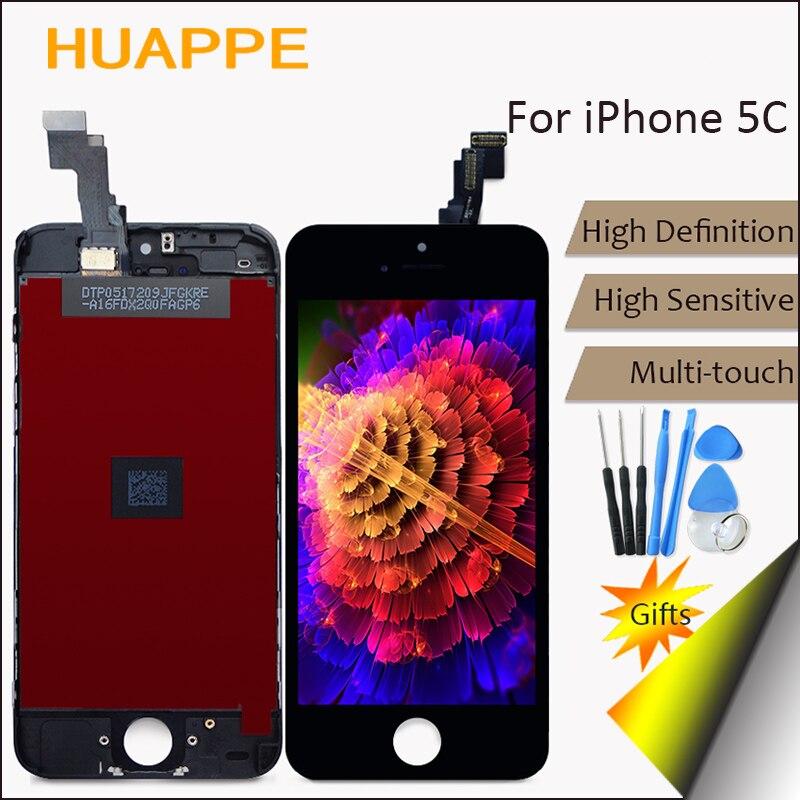 imágenes para Pixel No Muertos AAAA de Alta Definición LCD de Alta Calidad Para el iphone de Apple 5C Pantalla LCD Reemplazo de la Pantalla Táctil Con Digitalizador
