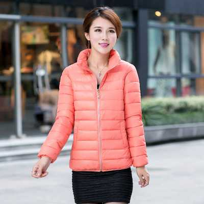 ФОТО Mother Clothing 2016 New Design Stand Collar Cotton Padded Slim Parkas Fashion Womens Long Sleeve Down Jacket Plus Size A4289