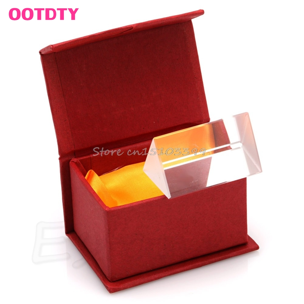 5CM Triangular Prism Teaching Optical Glass Triple Physics Light Spectrum New G08 Whosale & DropShip