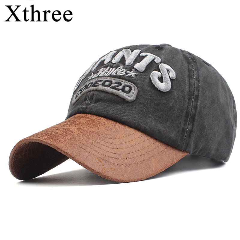 Xthree Retro men's   Baseball     Cap   Snapback Hats For women Hip hop Gorras Embroidered Vintage Hat   Caps   Casquette Bone Brand   cap