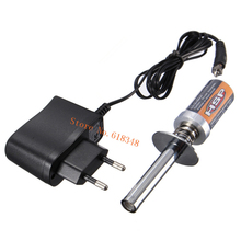 1800mAh Rechargeable Glow Plug Igniter Ignition Starter Kit AC Charger for Gas Nitro Engine Power 1