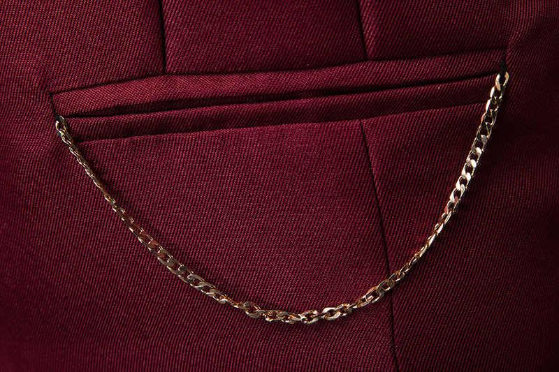 Mens Slim Fit יחיד חזה חליפת Vest Chaleco Hombre 2019 אופנה שרשרת חזייה ללא שרוולים גברים פורמליות חתונת שמלת וסטים