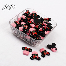 JOJO BOWS 10pcs Resin Patches Candy Donut Accessories Hair Bows Making Supplies DIY Scrapbook Materials For Apparel Sewing