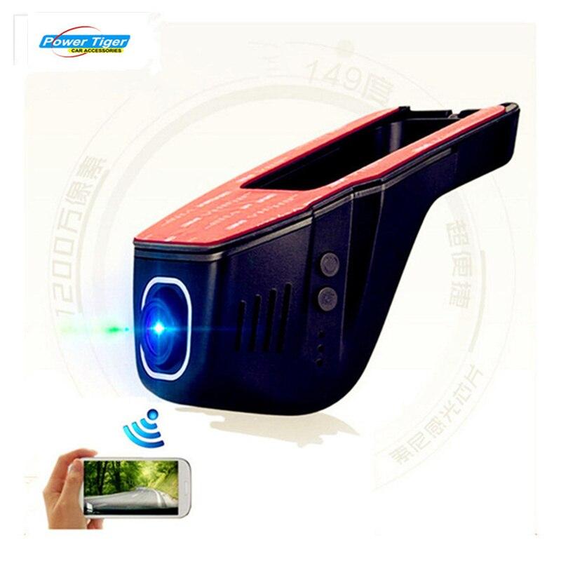 Скрытые супер емкостный с разрешением 1080p беспроводной автомобиль DVR кулачка черточки ночного видения камеры автомобиля черный ящик с чипом 96658 НОВАТЭК и Сенсор Sony IMX322