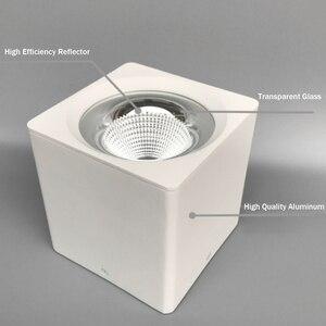 Image 2 - [Dbf] superfície de alta potência montada downlight 10w 20w 30 quadrado preto/branco conduziu a luz do ponto teto 3000k/4000k/6000k ac110v 220v