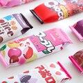 Kawaii Food Snacks Pencil Bag PU Leather Lovely Student Pencil Bag Korean Stationery