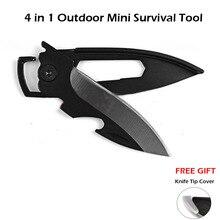 Многофункциональный мини-нож для ключей EDC, карманный инструмент для выживания, складной нож, открытый нож для очистки от кожуры, открытые Кухонные гаджеты