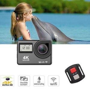 "Image 4 - 4K 2.0 ""Touch Screen WIFI Dual หน้าจอ 12MP กล้อง 30m DV 170 องศากว้างเลนส์มุมกว้างกีฬา Cam"