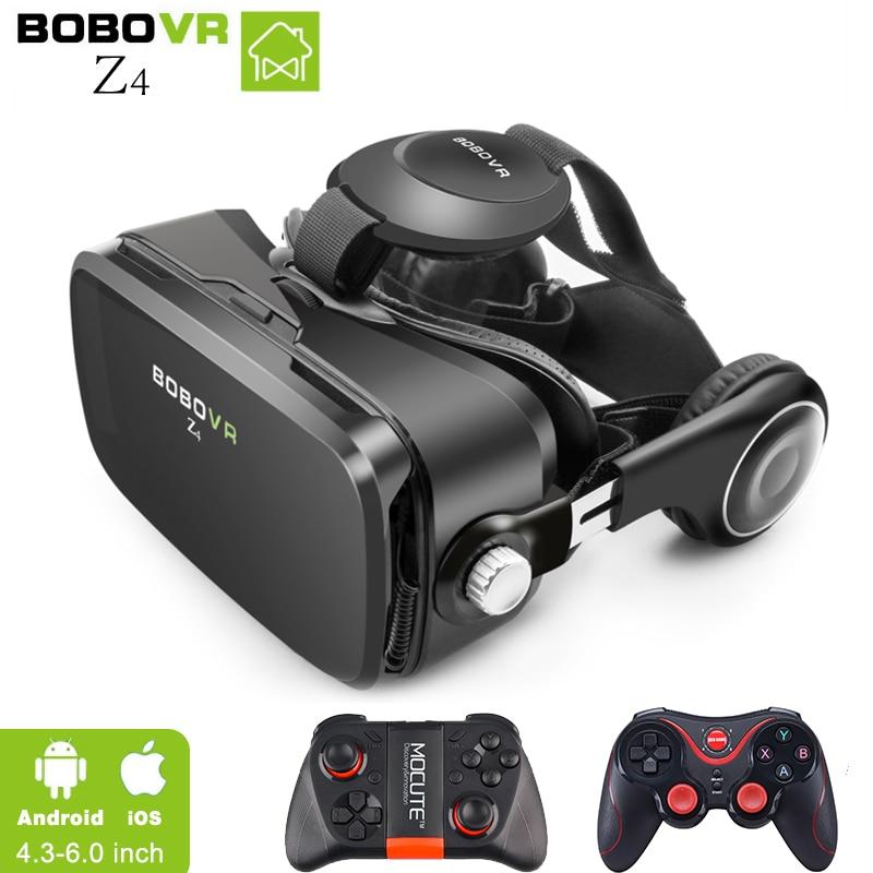VR BOX BOBOVR Z4 lunettes de Réalité Virtuelle 3D Lunettes Google carton BOBO VR LUNETTES Z4 Casque pour 4.3-6.0 pouce smartphones