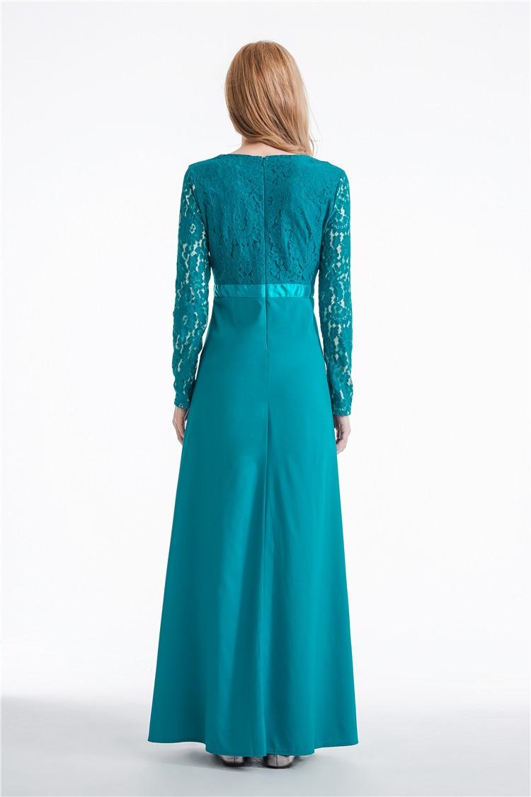 2017 Muslim family matching mom baby outfits Abaya long sleeve dress ...