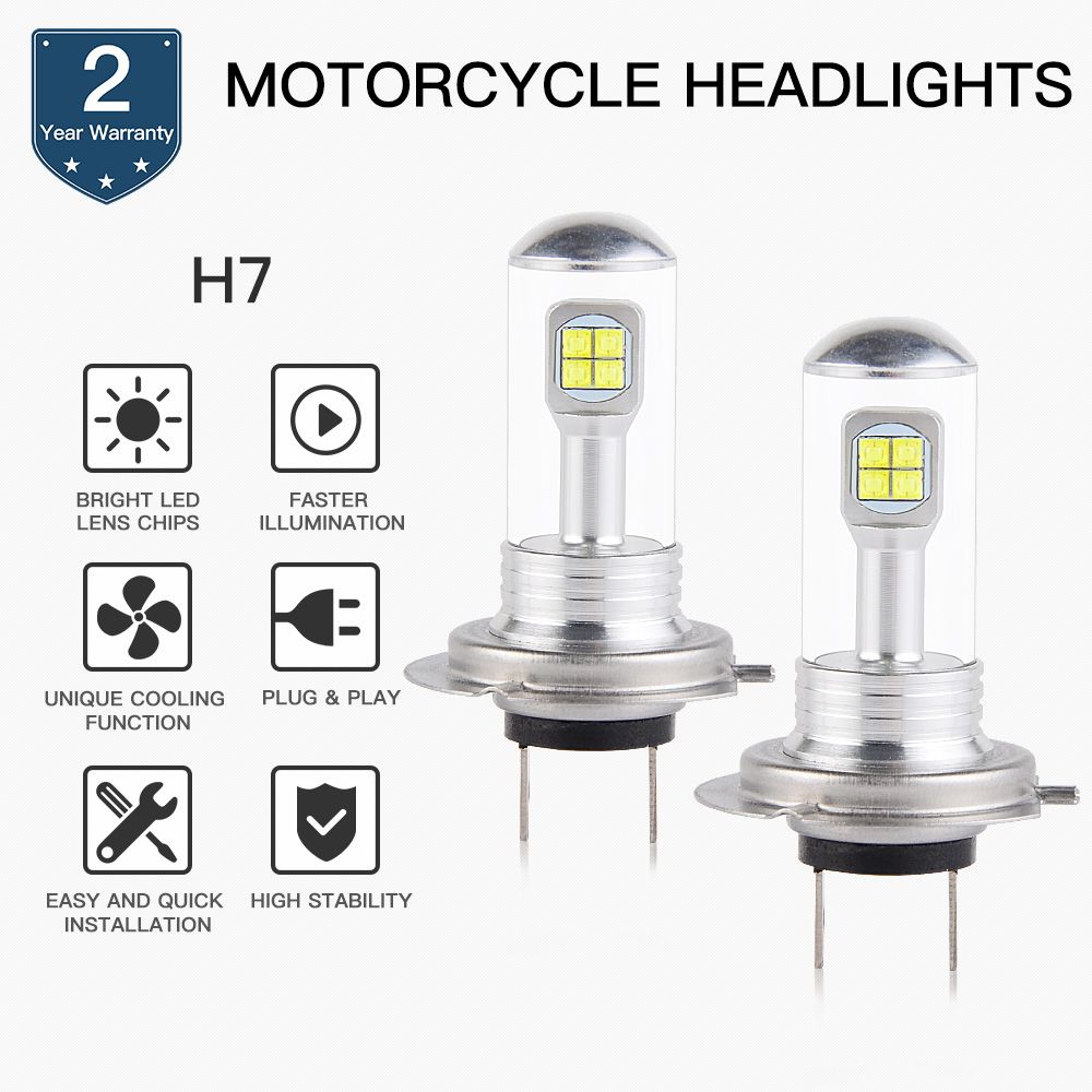 NICECNC 80W <font><b>LED</b></font> <font><b>Headlight</b></font> Bulbs For Kawasaki EX250 <font><b>300</b></font> 400 650 KLZ1000 Z1000 Z750S <font><b>Ninja</b></font> 250R 400R 650R ZX6R 10R ZX600 636 1000 image
