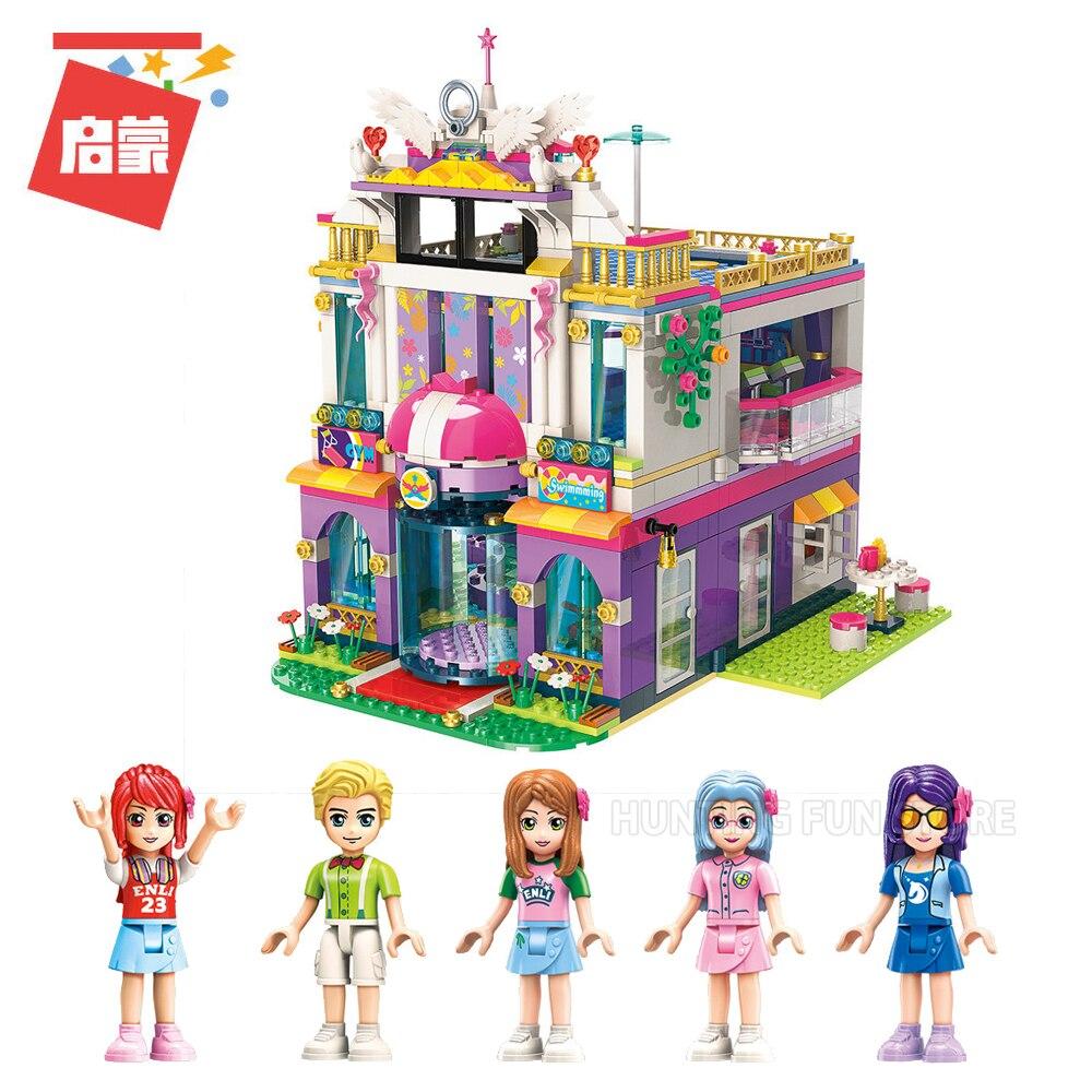 944 pz 2017 Fit Legoness Amici Set Star Dreaming Villa Mini figure Minifig Costruzione di Blocchi di Giocattoli Ragazze Regali Creativi