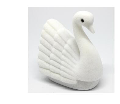 20pcs/lot free shipping creative style Swan Velvet Ring Earring Necklace Jewelry Display Gift Box Case white and black