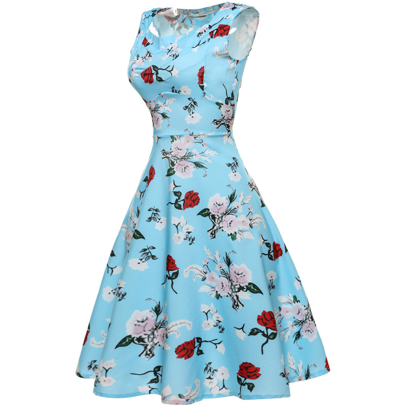 2017 Party Dresses Women Retro Dress 50s 60s Vintage Rockabilly Swing  Feminino Vestidos flamingo Pattern Plus Size 2XL-in Dresses from Women s  Clothing on ... a4b45e5bcc14