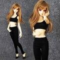 Новых Прибытие Sexy Аэробика Костюм (Жилет + Брюки) Для 1/3 1/4 SD10 MSD BJD Одежды Куклы