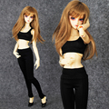 New Arrival Sexy Aerobics Suit(Vest+Pants) For 1/3 1/4 MSD SD10 BJD Doll Clothes