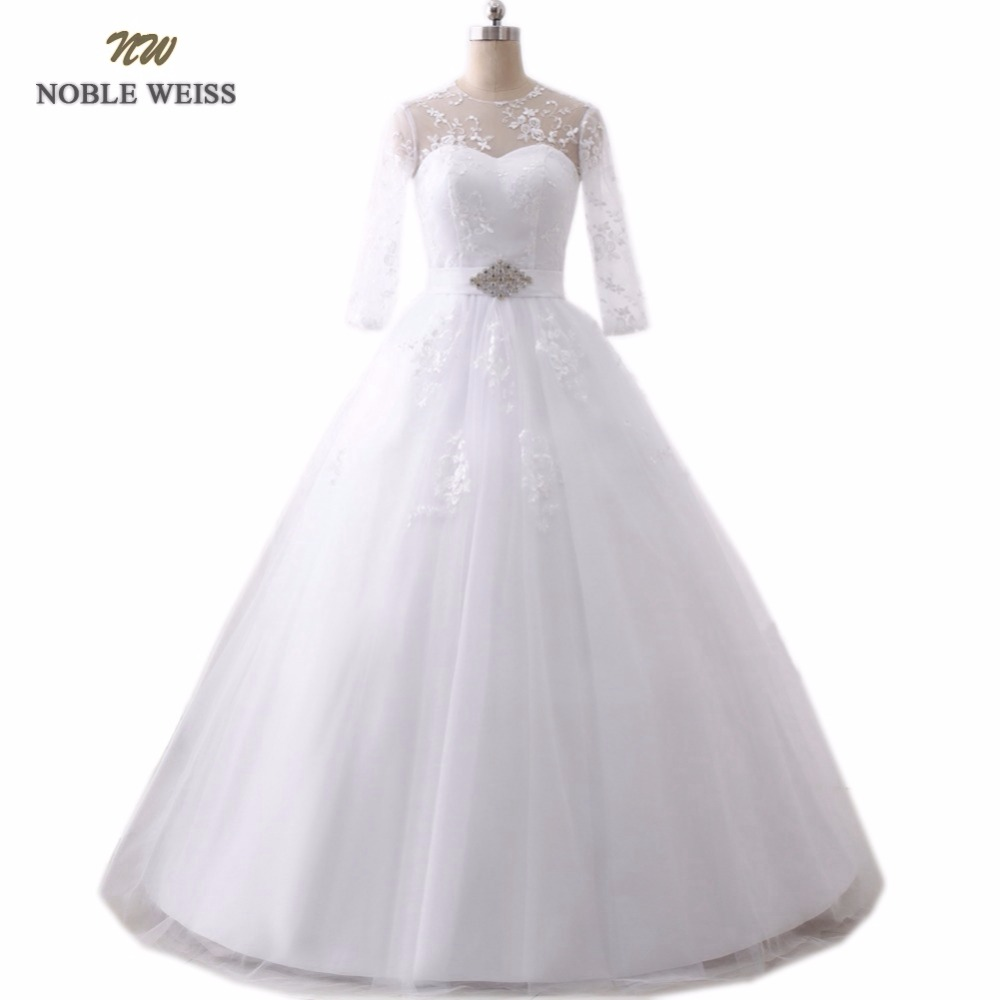 NOBLE WEISS Sexy Lace Vintage Ball Gown Wedding Dress 2019 Romantic Wedding Gowns Vestido de Noiva