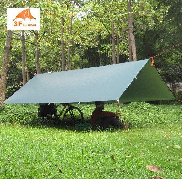 3f ul gear argento rivestimento anti uv ultralight ripari per il sole spiaggia pergola baldacchino tenda 210 t taffettà tarp di campeggio sunshelter