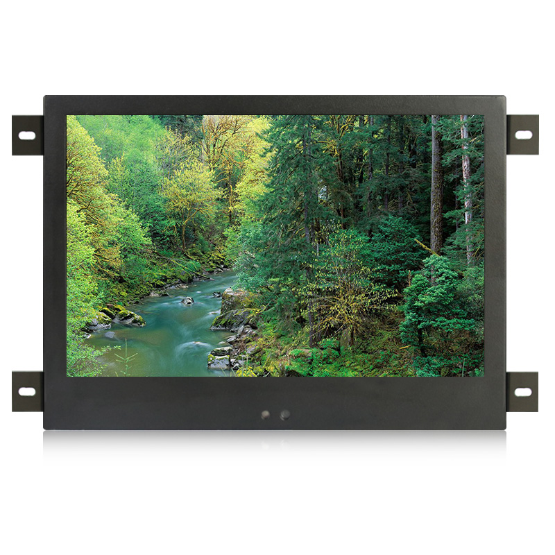 10 inch / 10.1 inch lcd monitor vga dvi interface metal shell embedded industrial control full angle