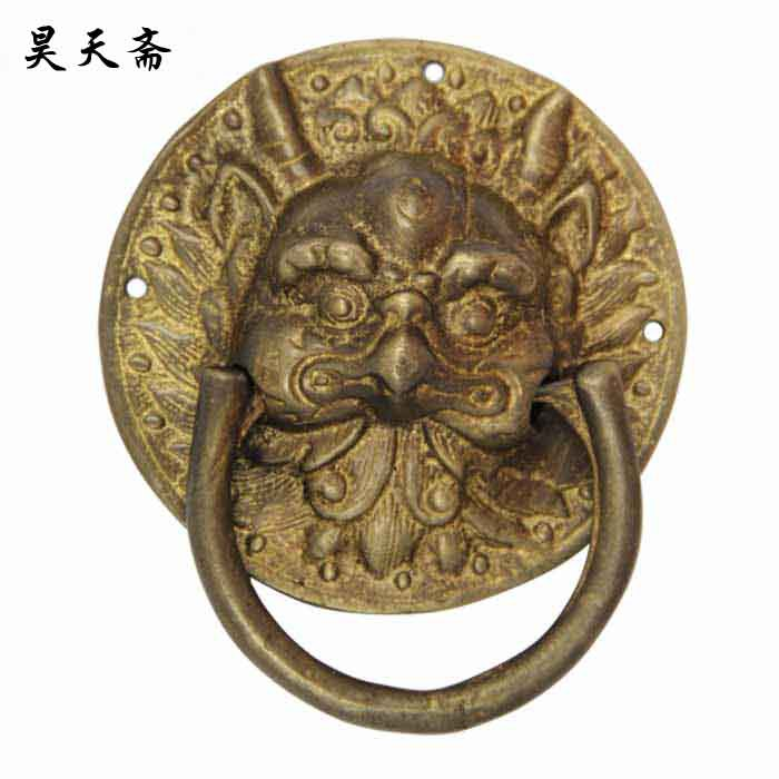 цены на [Haotian vegetarian] Chinese home copper fittings / animal head door knocker / copper door pull ring HTA-036 в интернет-магазинах