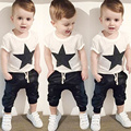 Baby Boy Clothing Set Children Cotton Star Printed Short Sleeve T-shirt+Pants Suit Roupa Infant Summer Baby Kids Clothes Sets