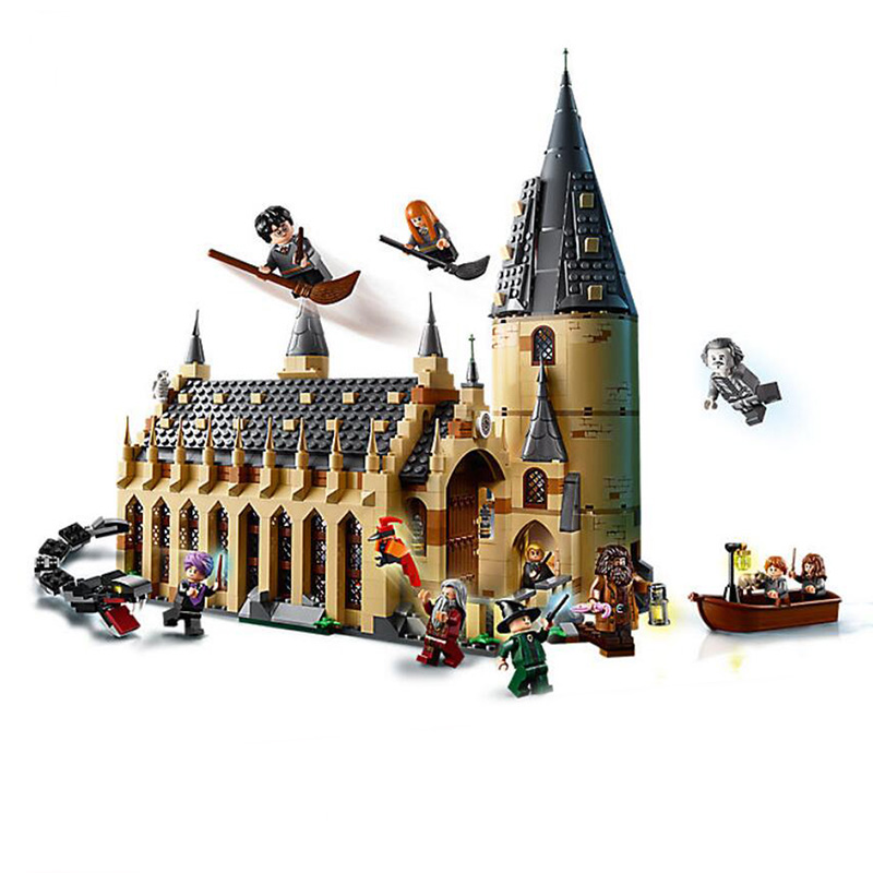 843pcs Harry Potter Serices Hogwarts Great Hall Compatibie Legoings Building Blocks Toy Kit DIY Educational Children