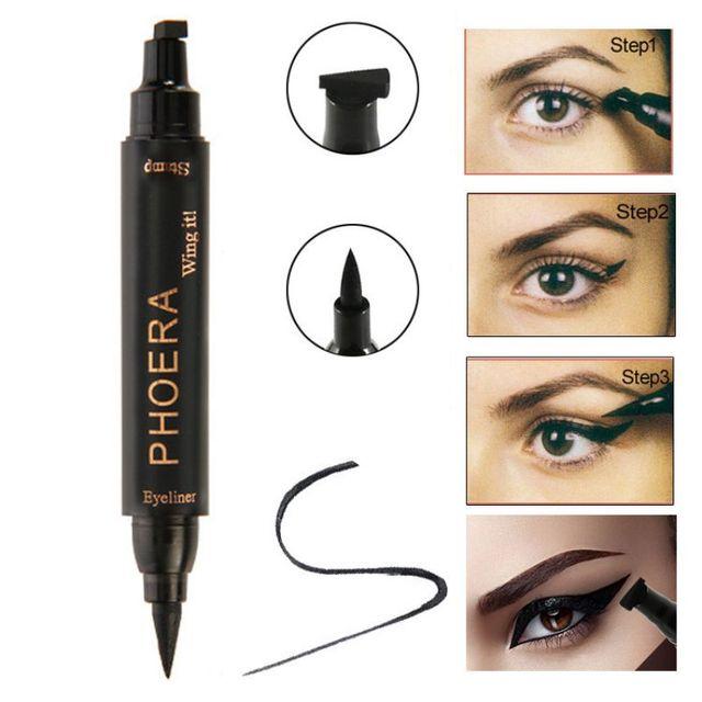 Eyes Liner Liquid Make Up Pencil Waterproof Black Double Ended