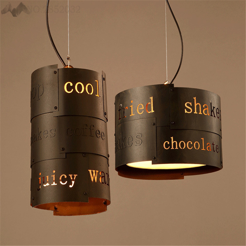 Cylindrical Vintage Industrial Hang Lamps Pendant Lights Led Lights For Home Nordic Pendant Light Fixtures Loft Style Hanging